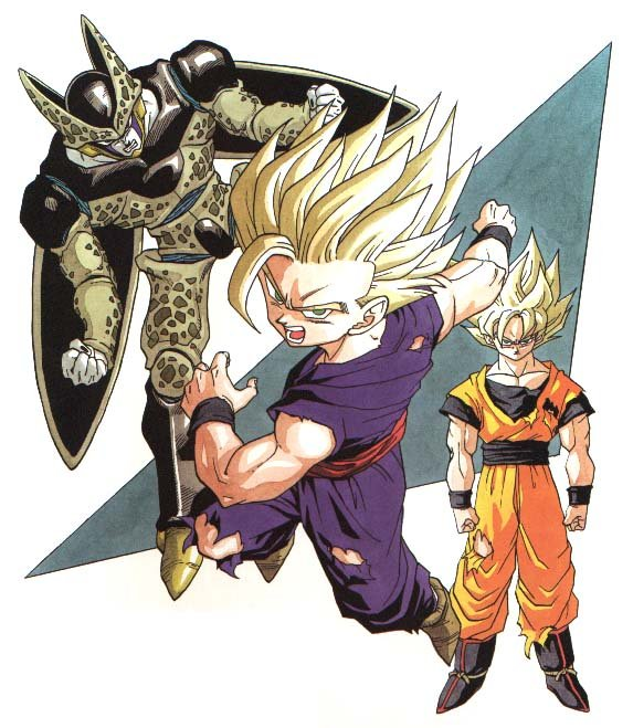 Gohan and Cell...
